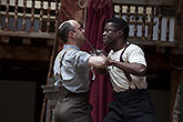 Tom Lawrence (L) Ladi Emeruwa (P), Globe on Tour's Hamlet 2014,  Bronwen Sharp