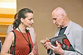 Petra Horváthová a Martin Hilský, Tisková konference LSS 2014, foto: Dušan Prouza