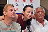 Petr Čtvrtníček, Petra Horváthová a Jiří Menzel, Tisková konference LSS 2014, foto: Dušan Prouza