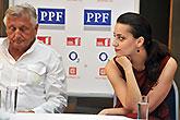 Jiří Menzel a Petra Horváthová, Tisková konference LSS 2014, foto: Dušan Prouza