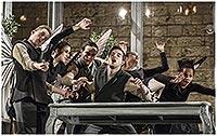 Zleva Ondřej Sochůrek, Jaroslava Janečková, Šimon Kubáň, Lukáš Homola,  Jana Vrána a Linda Caridad Fernandez Saez, Romeo a Julie, zdroj: © ...