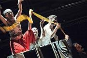 Gabriela Štefanová, Kateřina Jebavá, Vendula Kasalická (rej čarodějnic), Smím prosit, Lady? Macbeth, foto: Roman Franc, zdroj: © Divadlo Husa na provázku
