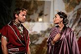 Jan Révai (Agrippa) a Zuzana Moravcová (Octavia), Antony and Cleopatra, source: © Agentúra JAY