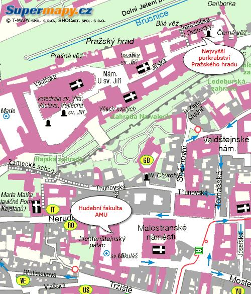 Pražské scény - mapa