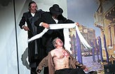 Kupec benátský, Bolek Polívka (Shylock), Jan Přeučil (Tubal), Marián Zednikovič, foto: Viktor Kronbauer, tel.: 603 473 507, zdroj: © AGENTURA SCHOK