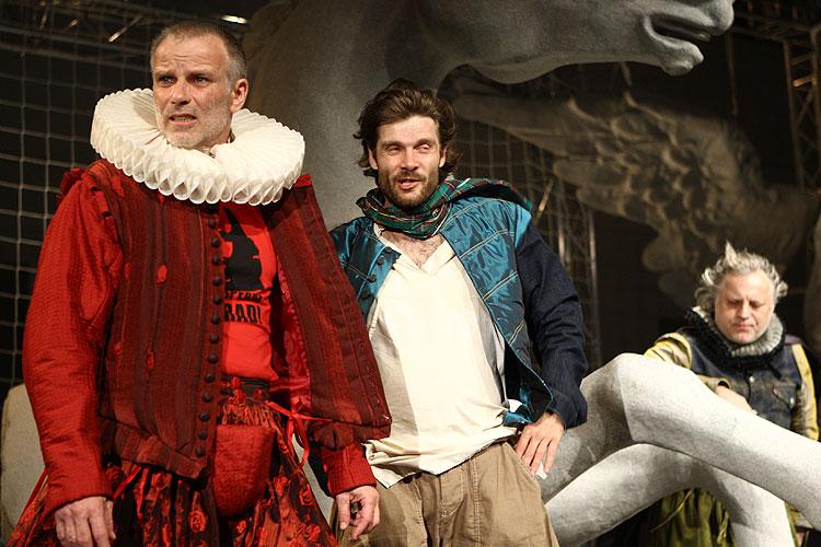 Lukáš Vaculík (Vévoda), Milo Kráľ (Proteus), Dvaja páni z Verony, foto: Peter Frolo, zdroj: © Agentúra JAY Production