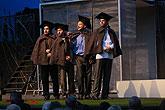 Vladimír Polák (Biron), David Punčochář (Dumaine), Josef Kaluža (Longaville), Albert Čuba (Ferdinand), Marná lásky snaha, zdroj: © PaS ...