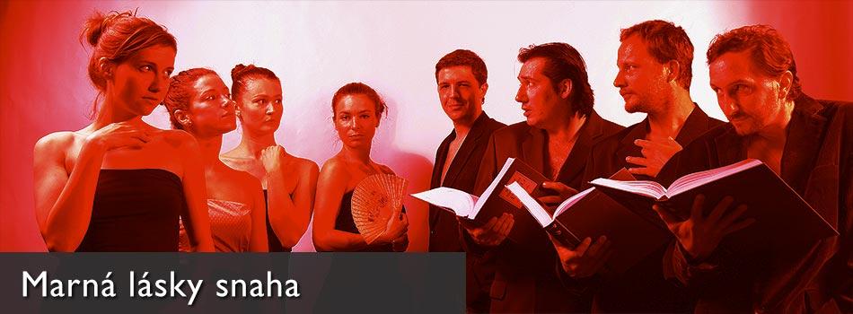 Marná lásky snaha, premiéra 2011, zdroj: © PaS de Theatre, foto: Radovan Štastný