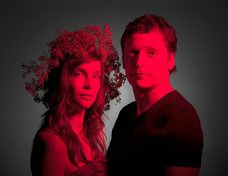 Hana Vagnerová (Hermie) a David Prachař (Theseus/Oberon), Sen noci svatojánské 2013