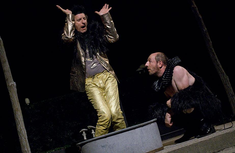 David Prachař (Oberon) a Csongor Kassai (Puk), Sen noci svatojánské 2013