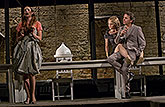 Hana Vagnerová (Hermie), Eva Vrbková (Hippolyta) a David Prachař (Theseus), Sen noci svatojánské 2013, zdroj: © AGENTURA SCHOK, foto: ...