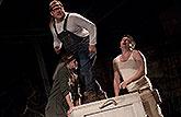 Josef Polášek (Poříz), Václev Kopta (Píšťala) a Marek Daniel (Klubko), Sen noci svatojánské 2013, zdroj: © AGENTURA SCHOK, foto: ...