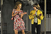 Tereza Vilišová (Bianca) a Matouš Ruml (Lucentio), Zkrocení zlé ženy 2012, zdroj: © TIC města Brna, foto: Michal Růžička